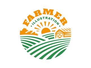 Illustration farm logo style