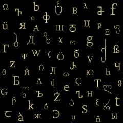 alphabetical mix texture