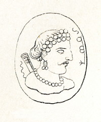 Ancient Indian gemme, 700-900 AD (from Meyers Lexikon, 1895, 7/286-7)