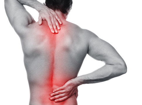 Man with pain in his back