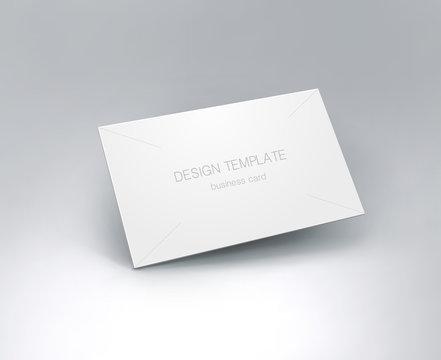 Business card mockup. vector