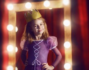 Cute little actress.