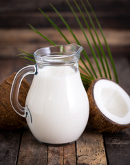 Coconut milk in the jug