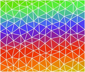 Multicolor geometric background consist of triangles. Triangular design for your business
