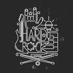 Rock and roll typographic for t-shirt ,tee design,poster,flyer,vector illustration