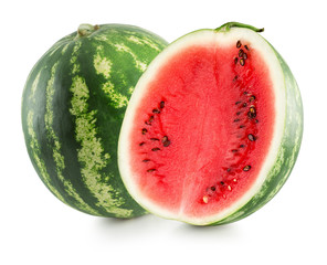 watermelons isolated on the white background