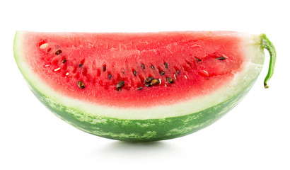 watermelon slice isolated on the white background