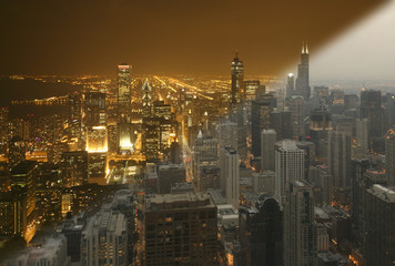 Chicago day and night