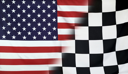 Winner Concept USA and checkered goal flag