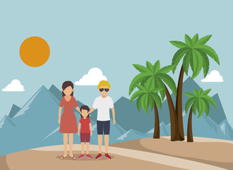 summer vacation holiday icon vector illustration design
