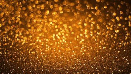 gold glitter bokeh texture abstract background