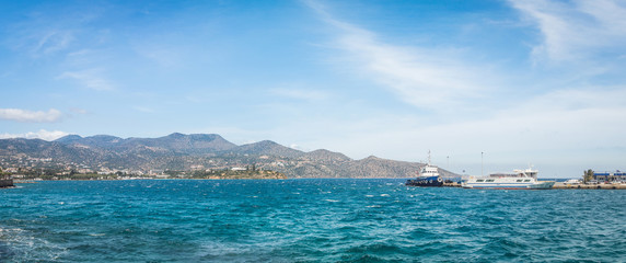 Wall Mural - Panoramic view from the town of Agios Nikolaos