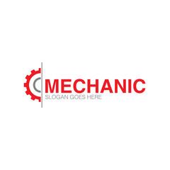 gear repair service industrial engeneering logo icon design concept vector template