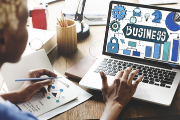 Business Corporate Organization Management Development Concept