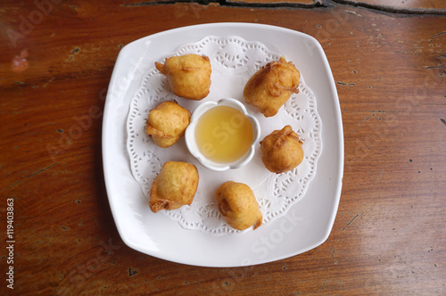 how to make fried banana balls