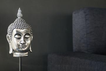 buddhist image interior design detail in modern stylish contempo
