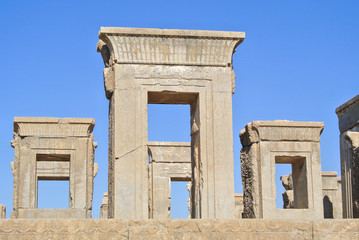 Ruins of the Ancient City of Persepolis in Iran
