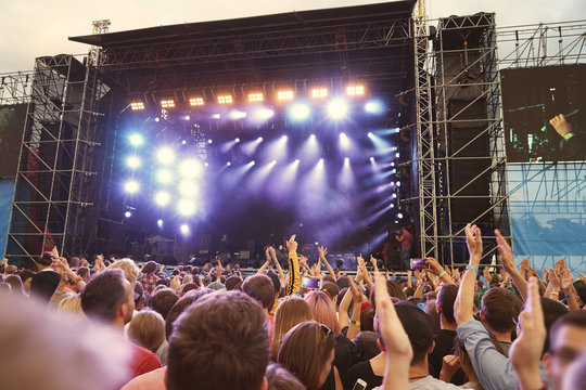 Crowd at a open air concert