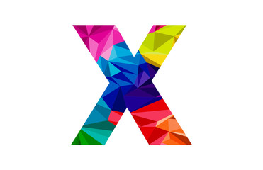 mozaic colorful letter x