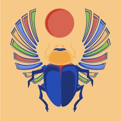 Egyptian scarab vector