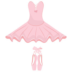 Ballet dress and pointes