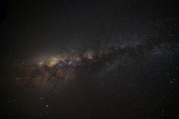 Milky way galaxy with stars and space dust in the universe, Long