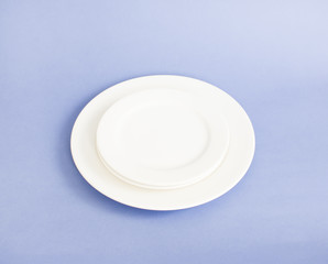 Blank white plate