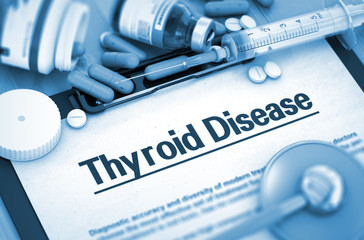 Thyroid Disease Diagnosis. Medical Concept. 3D Render.