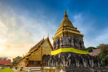 Wat Chiang Man at sunrise, Thailand