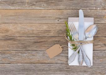 Besteck Rustikal Tischgedeck Messer Gabel Löffel