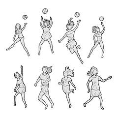 Volleybal actie