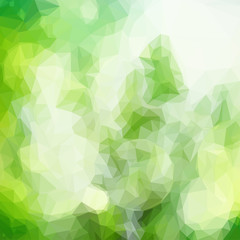 green floral bokeh background