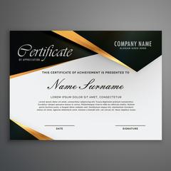 elegrant premium luxury style certificate of qualification