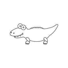 Crocodile line icon. Illustration for web and mobile design.