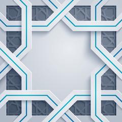 Arabic geometric pattern abstract background