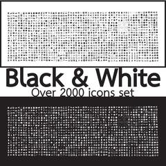 Over 2000 Black and White Set icons Quality illustration design