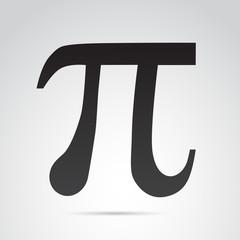 Pi vector symbol.