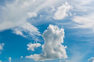 Beautiful sky, sky, white clouds.
