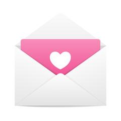Love envelope letter vector