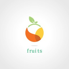 circle fruits plant logo