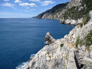 view of the coast and sea around Portovenere h
