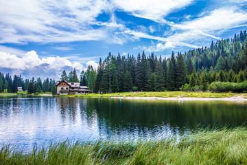 The lake Nambino in the Alps, Trentino, Italy