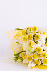Beautiful bouquet for woman isolated on white backgorund.