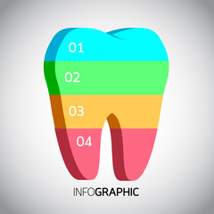 Tooth info graphic design,  Business concept design. Clean vector illustration.