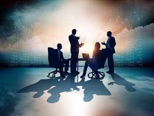 Business Group. Rasterized vector illustration