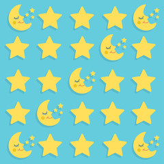 Moon and Star Vector Illustration