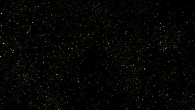 bright distant colorful stars in a black sky