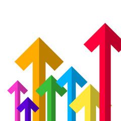Colorful Paper Arrows. Vector Arrow Set.