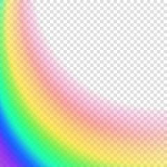 Transparent blurred background. Rainbow colored vctoe illustration on transparent background