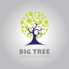 abstract tree business sign vector